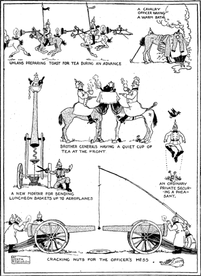 A World War I cartoon by W. Heath Robinson
