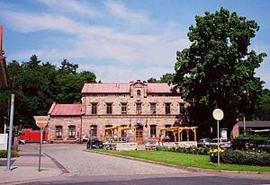 Halle–Hann. Münden railway - Heiligenstadt station