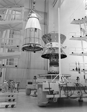 Helios (spacecraft) - A Helios probe being encapsulated for launch