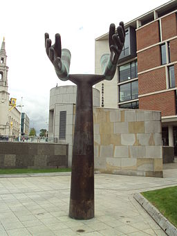 Helping Hands sculpture, Mandela Gardens, Leeds - DSC07707