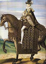 Henry IV as king on horseback