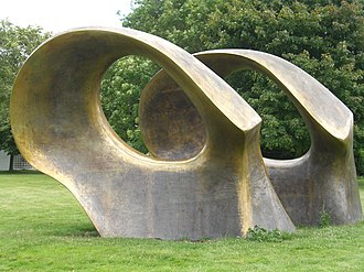 Modern sculpture - Henry Moore, Double Oval (1966), Henry Moore Foundation