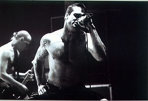 Rollins Band - Henry Rollins, founder and frontman with Chris Haskett (background)