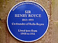 Henry Royces' Blue plaque in Quarndon.jpg