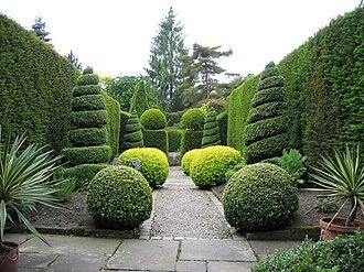 Topiary - York Gate Garden, Leeds, Yorkshire, England.