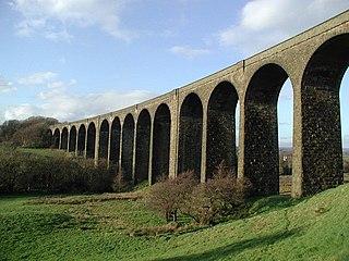 Hewenden Viaduct Grade II listed bridge in Wilsden, West Yorkshire, UK