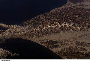 Hidaka Mountains - Mountains, taken from the ISS on Feb. 22, 2003