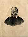 Hieronymus Fabricius of Aquapendente. Lithograph by P. R. Vi Wellcome V0001829.jpg
