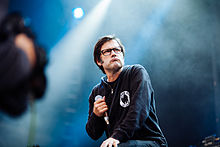 Vocalist Joey Cape performing with Lagwagon in 2014