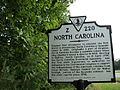 Historical marker State of North Carolina boundary with Virginia.JPG
