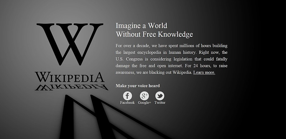 History Wikipedia English SOPA 2012 Blackout2