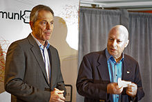Former British Prime Minister Tony Blair And Hitchens At The Munk Debate On Religion Toronto November 2010