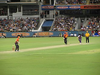 Perth Scorchers - Perth Scorchers taking on Hobart Hurricanes at #TheFurnace in 2011