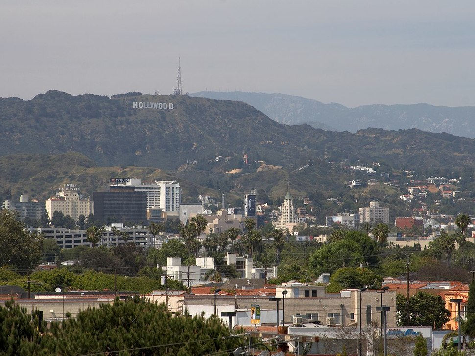 Hollywood sign from farmers market