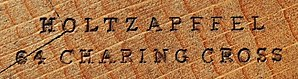 Holtzapffel - Mark of Holtzapffel on the toe of a moulding plane