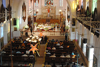 English: Holy Mass at San Thome Church