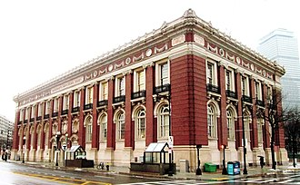 Massachusetts Horticultural Society - The current Horticulural Hall, at 300 Massachusetts Avenue at the corner of Huntington Avenue, was built in 1901 and was designed by Edmund March Wheelwright.