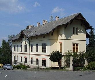 Hukvaldy - Image: House in Hukvaldy
