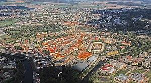 Hradec Králové Region - Hradec Králové from air