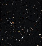 Hubble Pushed Beyond the Limit for Sharpest-Ever View of Distant Galaxy (35447327380).jpg