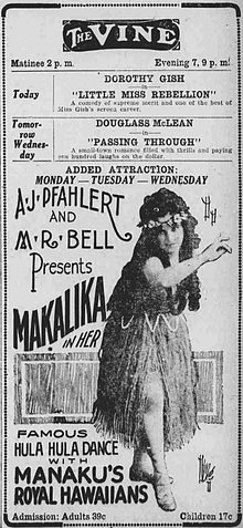 60112ca83e010 In the 1890s and early 1900s, hula dancers and Hawaiian musicians toured  the U.S. mainland. This advertisement appeared in an Ohio newspaper in 1921.