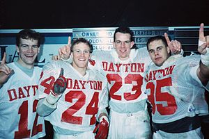 Jon A. Husted - Husted with his former University of Dayton football teammates.