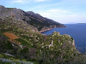 The southern coast of Hvar, west of Sveta Nedj...