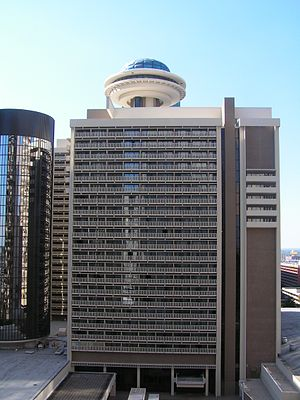 English: View of the Hyatt Regency Atlanta fro...