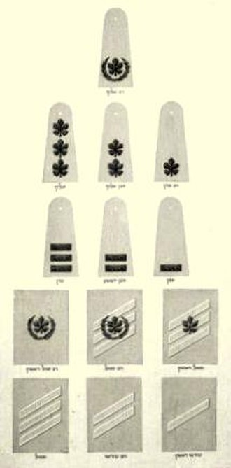 Israel Defense Forces ranks - IDF Ranks in 1949