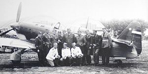 Royal Yugoslav Air Force - IK-3 pilots from sixth regiment.