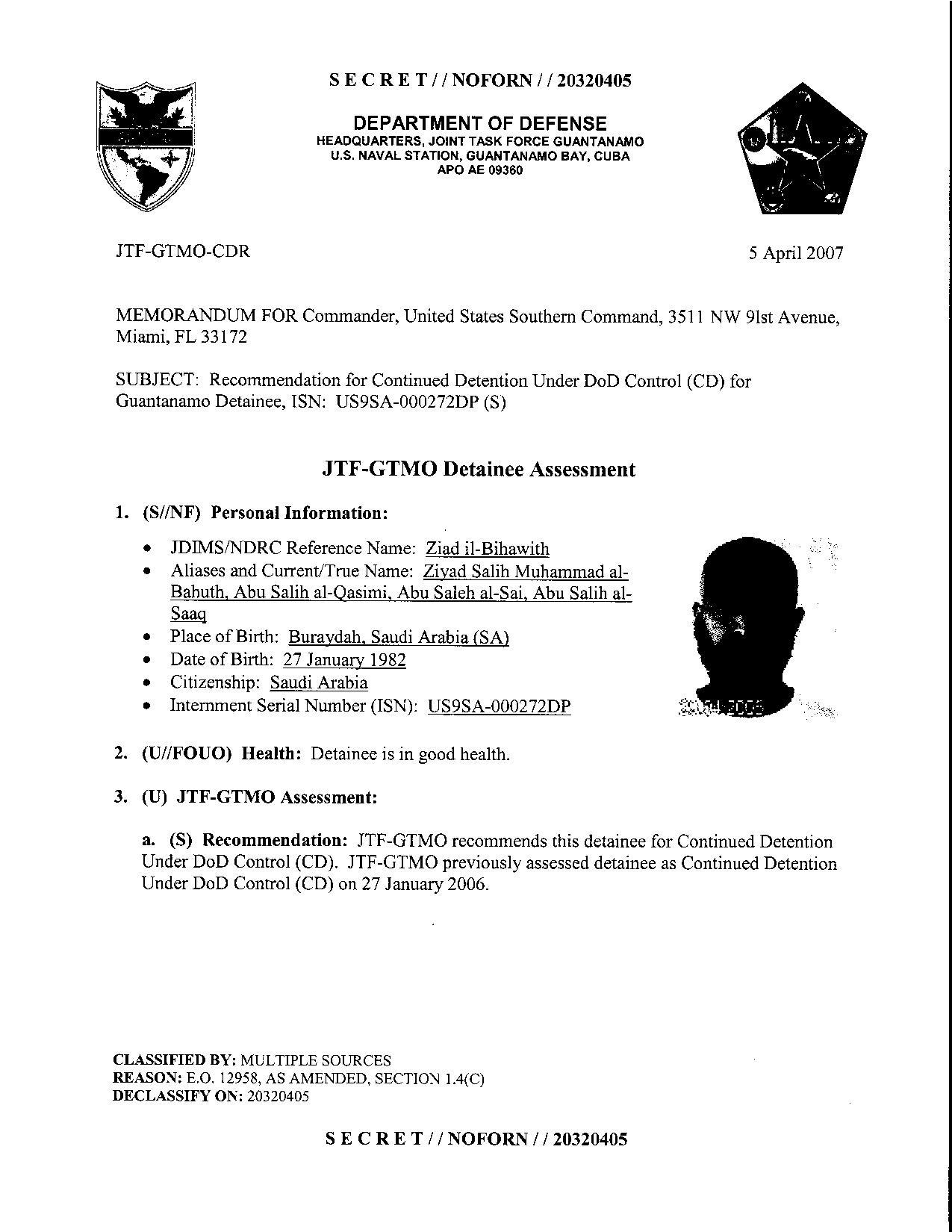 ISN 272's Guantanamo detainee assessment.pdf