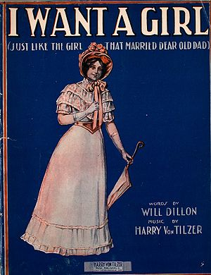 I Want A Girl (Just Like The Girl That Married Dear Old Dad) - Sheet music cover