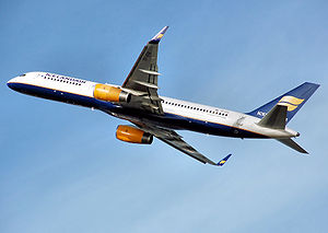 An Icelandair Boeing 757-200 takes off from Lo...