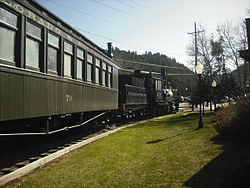 Idaho Springs, the train right by the City Hall.jpg