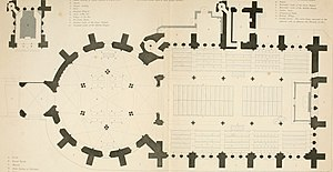 Temple Church - Floor plan of the Temple Church