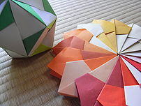 Modular Origami, Japanese folding paper works.