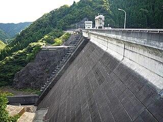 Imaichi Dam dam in Nikkō, Tochigi Prefecture
