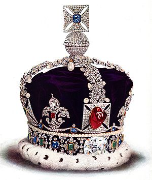 Black Prince's Ruby - The gemstone at the front of George V's Imperial State Crown