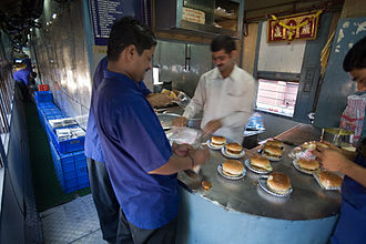 Buffet car - An Indian railways buffet car