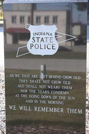 Indiana State Police - Indiana State Police memorial, Jasper, Indiana