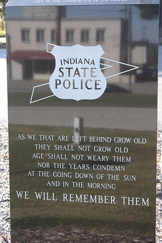 Indiana State Police - Memorial at Indiana State Police Post 34 in Jasper