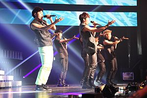 Infinite (band) - Infinite performing at Cyworld Dream Music Festival in 2011