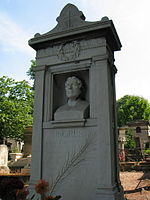 Tombe de Jean-Auguste-Dominique Ingres, cimeti�re du P�re Lachaise, Paris.