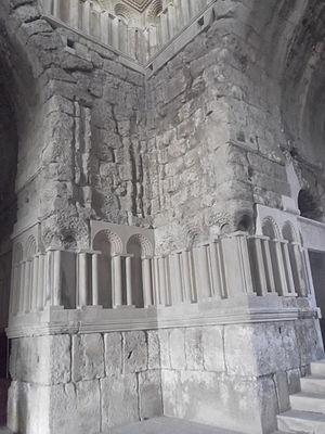 Umayyad Palace - Inside the monumental gateway