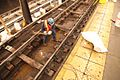 Installing tie blocks and cement on A line (11294151864).jpg