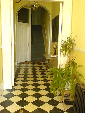 Brunswick (Hove) - Typical entrance hallway to a Brunswick house converted to flats