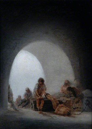 1808 in art - Goya – Prison Interior. 42.9cm x 31.7cm, Bowes Museum, Barnard Castle