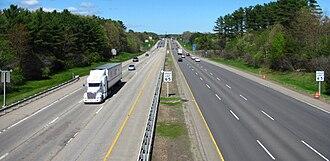 Interstate 95 in Maine - Northbound in Kittery, Maine