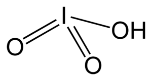 Iodic acid - Image: Iodic acid 2D