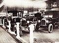 Iparcsarnok, az első önálló magyar automobilkiállítás. Hungária Automobilgyár Rt. standja. Fortepan 84240.jpg